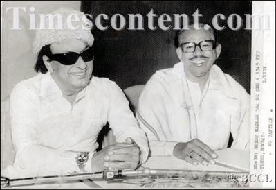 MGR with His Minister 'Navalar' Nedunchezhiyan