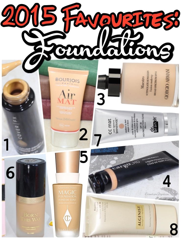 The best medium to full coverage foundations and bb/cc creams of 2015, for oily, acne-prone skin.