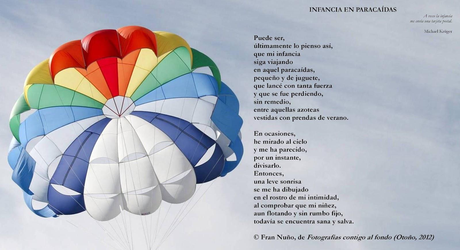 El cuaderno de Fran Nuño: INFANCIA EN PARACAÍDAS