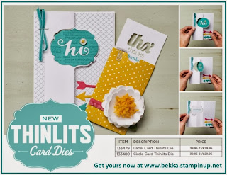 Check out the new Stampin' Up! Thinlit Dies and get yours here www.bekka.stampinup.net