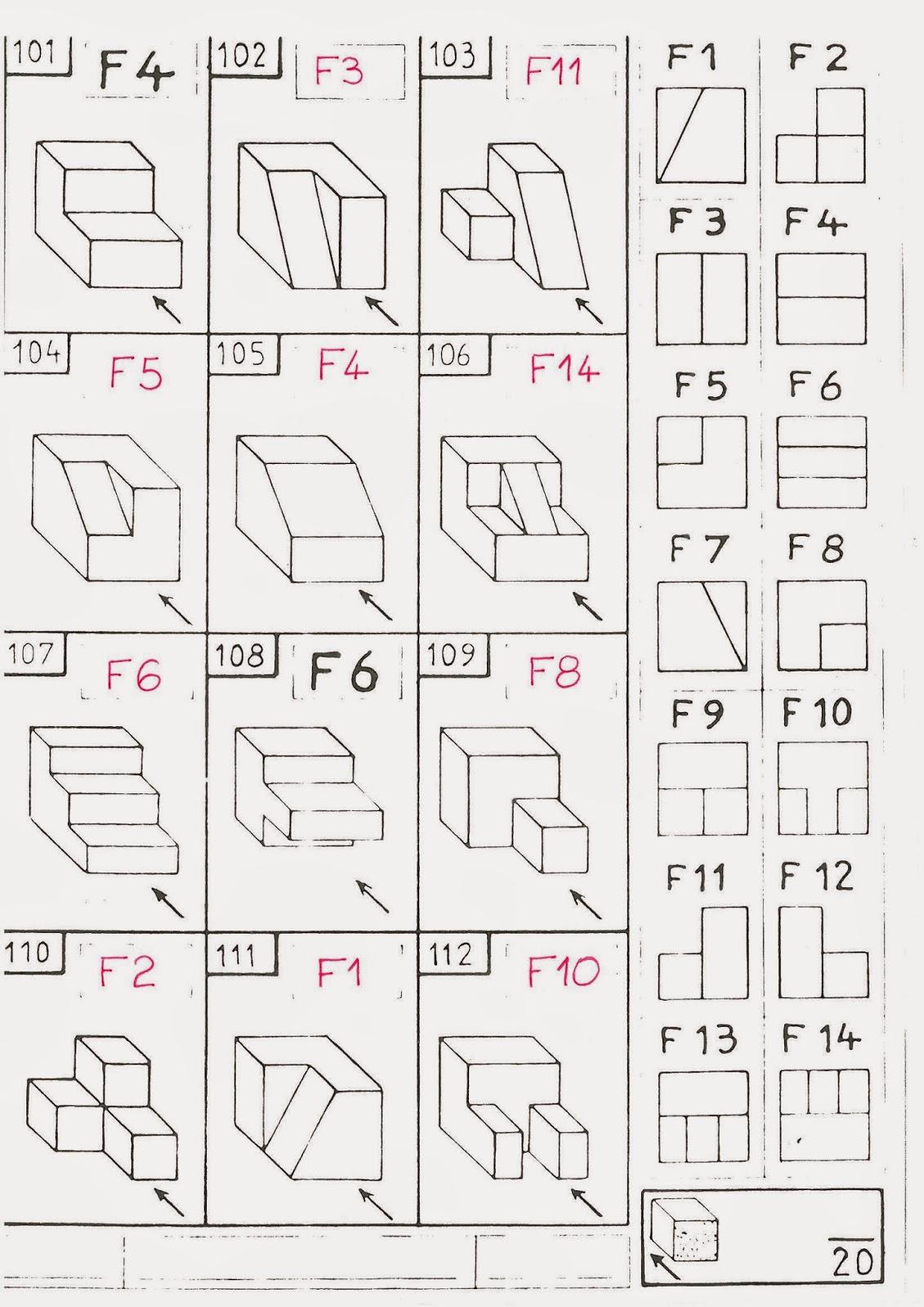 exercice dessin industriel vues. Black Bedroom Furniture Sets. Home Design Ideas