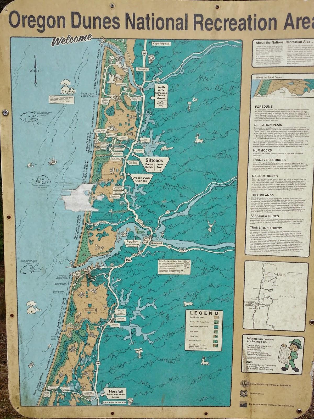 Oregon Dunes map Taste of Oregon RV