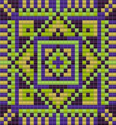 схемы бисероплетение ткачество кулон гердан bead patterns