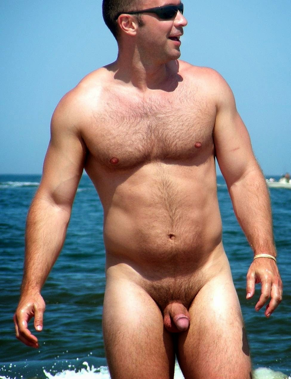 beach man naked hairly in