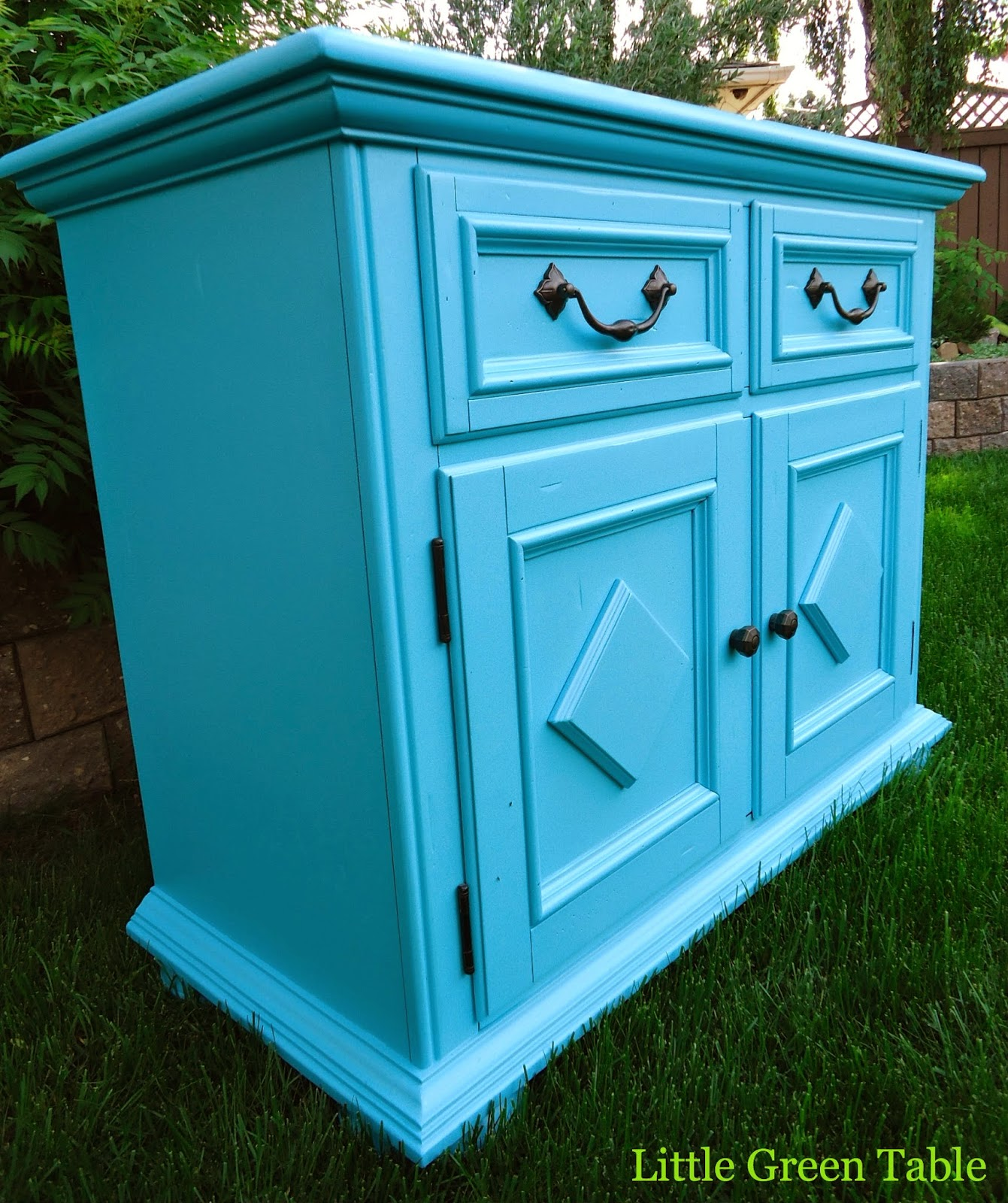 Clients Turquoise Cabinet