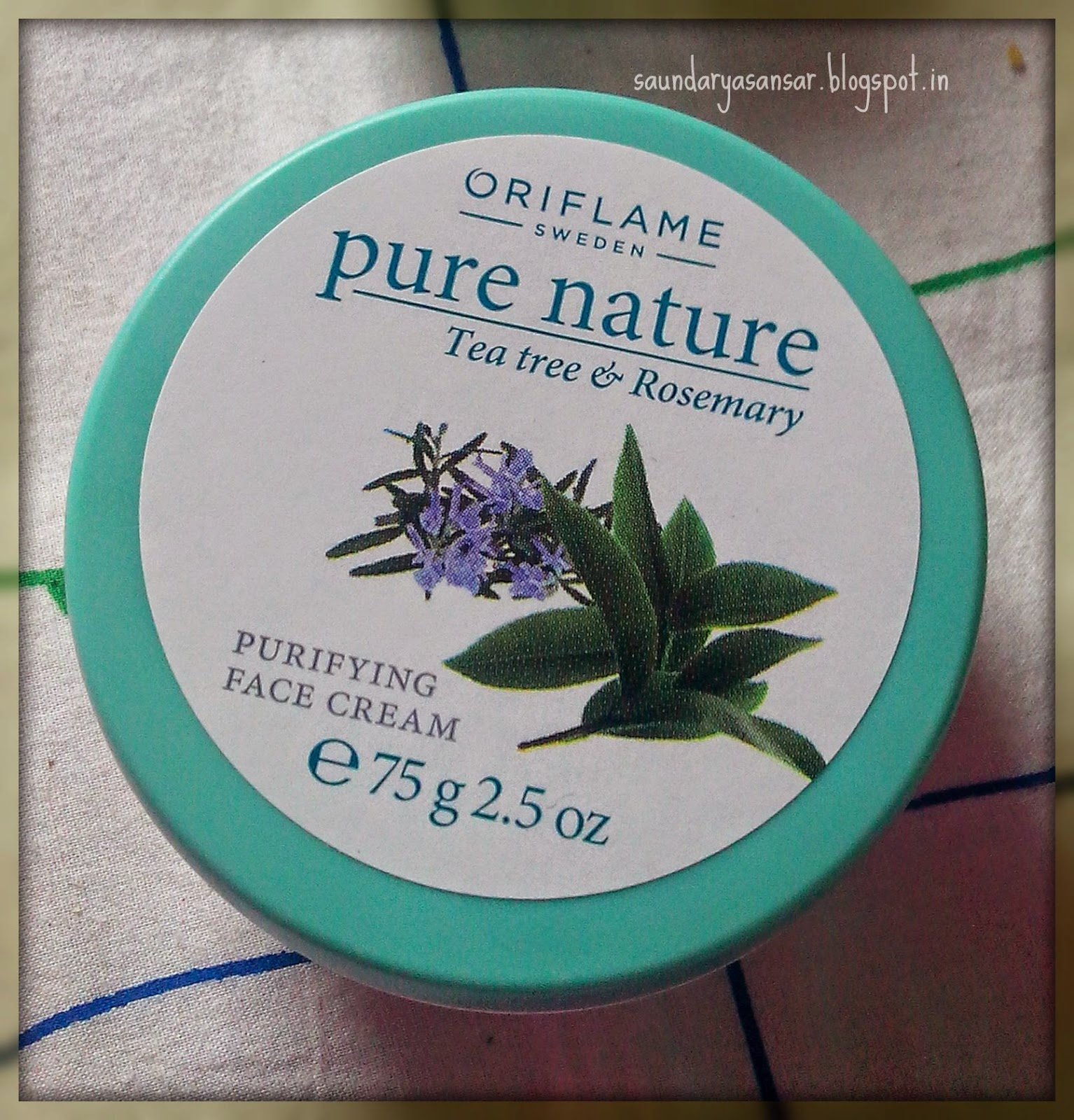 ORIFLAME-PURE-NATURE-Tea-Tree-and-Rosemary-Purifying-Face-Cream-Review