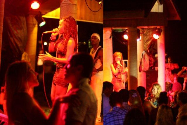 Concierto de reggae y espectadores en The Lookout Shirley Heights, Antigua