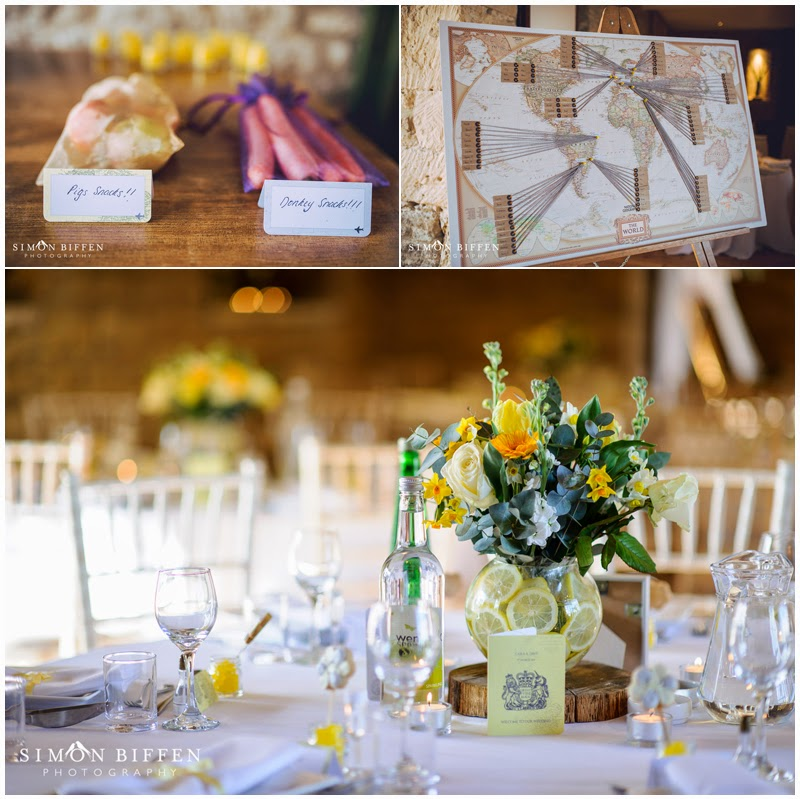 Wedding reception details Great Tythe Barn Tetbury
