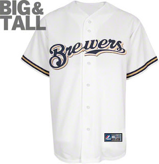 Big and Tall Milwaukee Brewers Home White MLB Jersey