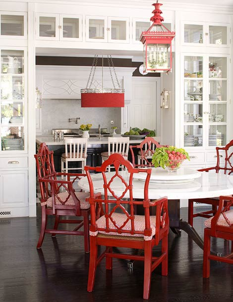 Ciao newport beach red white or blue kitchen - White kitchen red accents ...