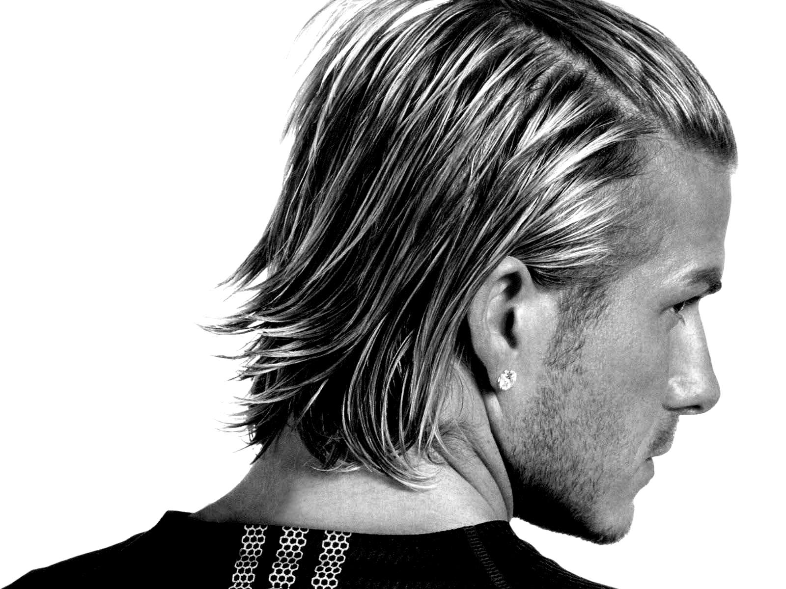 David Beckham new hairstyle black and white Photography