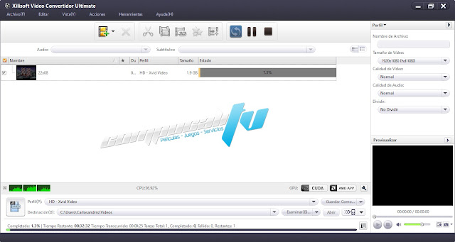 Xilisoft Video Converter y Ripper Version 7.6 Ultimate Español