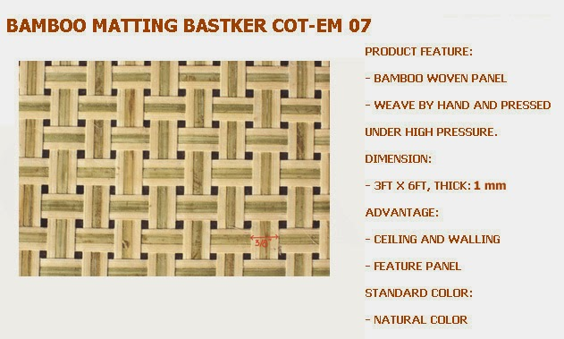 The Single Weave Paneling/matting : The Inside Thin Slats Of Bamboo, Woven  Into Paneling With The One Bamboo Slats In A Line And Stand Side By  Side...it ...