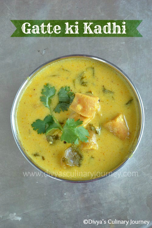 Gatte ki kadhi, Rajasthani Kadhi recipe