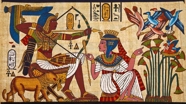 Egyptian art artfineheart for Ancient egyptian mural paintings
