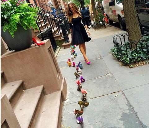 sarah jessica parker, SJP shoes, Nordstrom, Carrie Bradshaw, 66 Perry St., West Village,