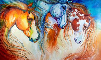 http://www.ebay.com/itm/M-BALDWIN-ORIGINAL-OIL-PAINTING-3-HORSE-SUN-MOON-STARS-MARCIA-BALDWIN-/151479521598?