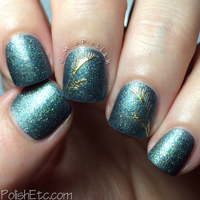 Born Pretty Store - 3D Feather Nail Stickers - McPolish - no top coat