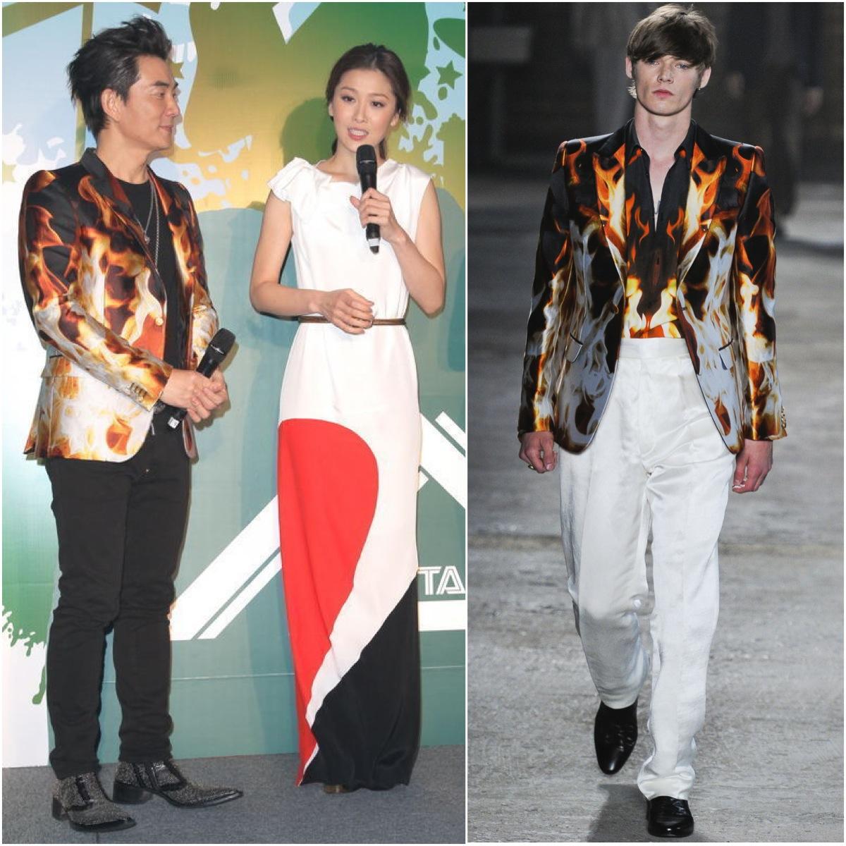 00o00 Menswear Blog Richie Ren [任贤齐] in an Alexander McQueen blazer
