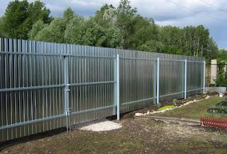 Забор из профлиста. Фото 26