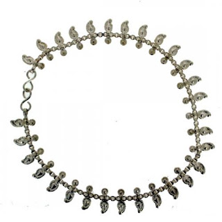 Women Bollywood Fashion Silver Anklets