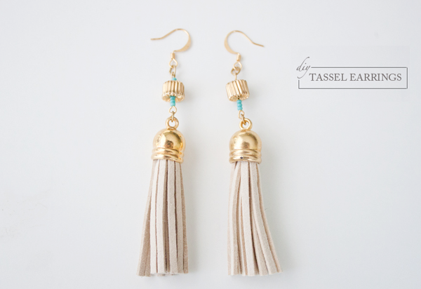 Five minute DIY tassel earrings