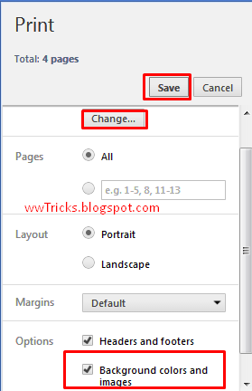 screenshot when  Saving a webpage as a pdf file in google chrome