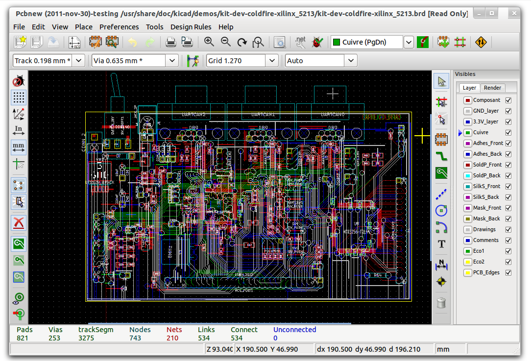 kidcad pcb design software
