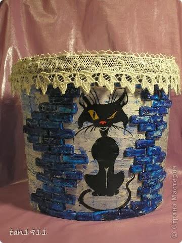 Идея декорирования пустых пластмассовых ведерок