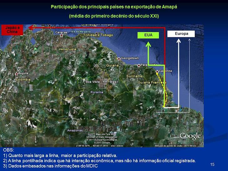 Exportação do Amapá_principais países