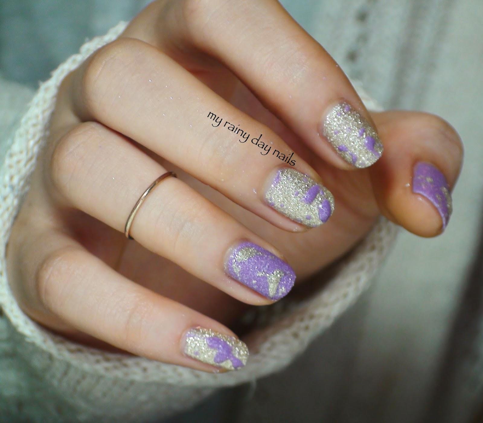 My Rainy Day Nails Splatter Nail Art With Zoya Tomoko Stevie