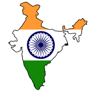 India-Flag map