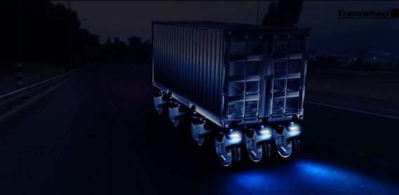 7 adet transwheel konteyner taşıyor