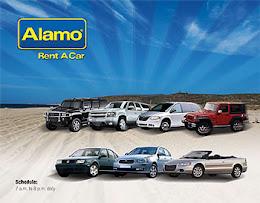 De auto huren wij bij Alamo.