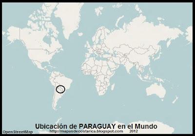 Ubicacion de PARAGUAY en el Mundo, OpenStreetMap