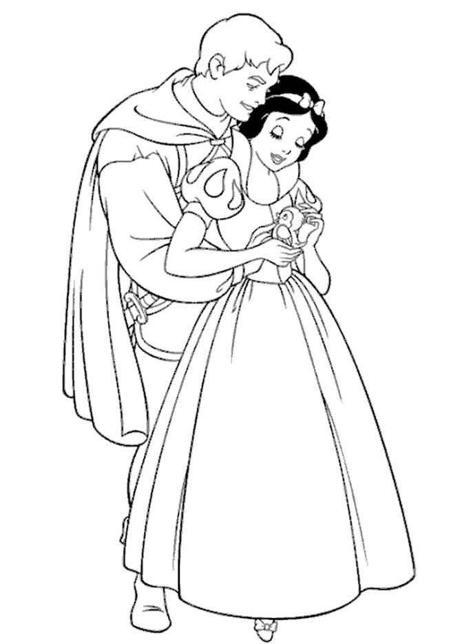 Desenhos Preto e Branco Princesa Branca De Neve Colorir