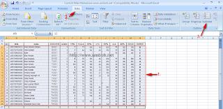 Langkah-langkah Subtotal Database Excel