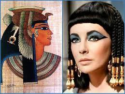 El maquillaje inició en egipto. Mujer egipcia con enfouque en ojo