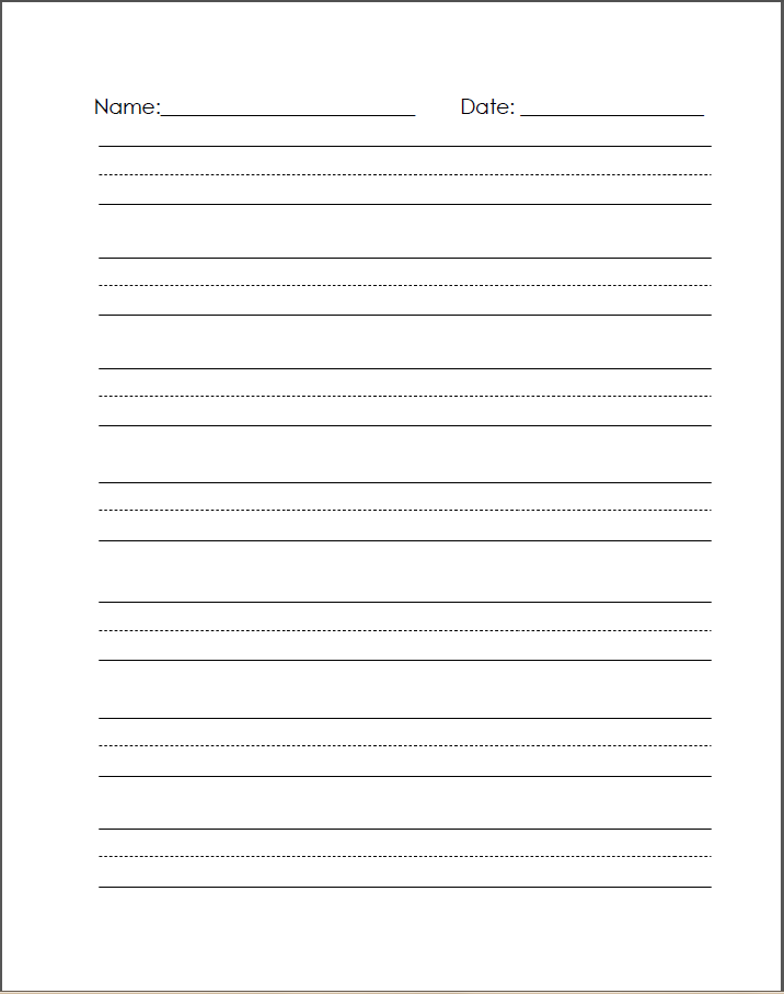 Classical Copywork: Blank Handwriting Sheets