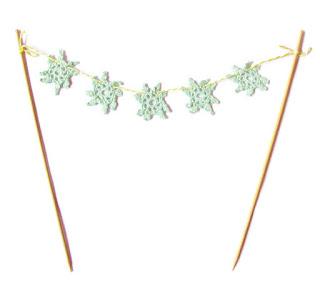 image doily cake bunting shabby chic pastel green domum vindemia wedding birthday bridal