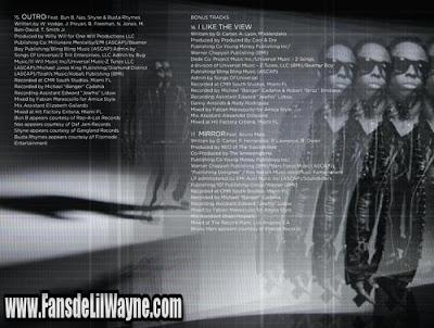fotos del libreto de tha carter IV artwork album