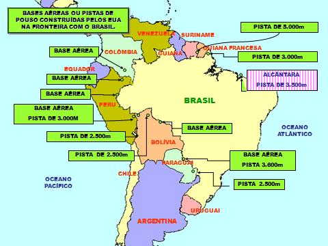 Resultado de imagem para Bases americanas na América do Sul