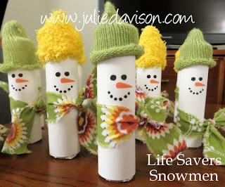 http://juliedavison.blogspot.com/2013/01/life-savers-snowmen-treats.html
