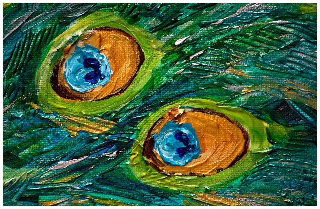 Peacock acrylic paintings - photo#18