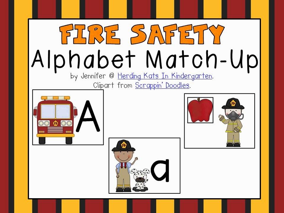 https://www.teacherspayteachers.com/Product/Fire-Safety-Themed-Alphabet-Match-Up-1477306