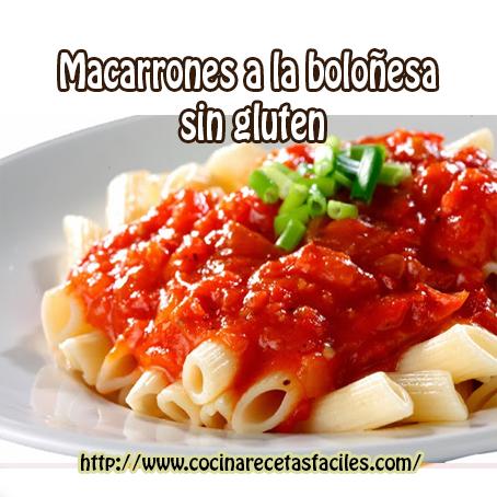 Macarrones a la boloñesa sin gluten, Recetas de pastas