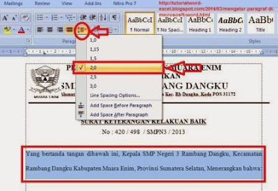 gambar Cara Mengatur Paragraf Di Micrososft Word 2007
