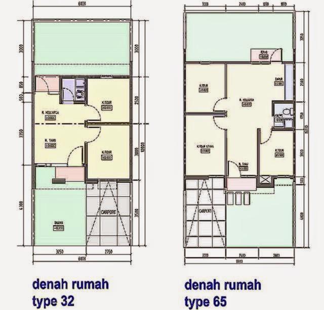 contoh gambar denah rumah minimalis     Foto
