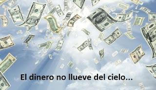 Dinero lloviendo del cielo