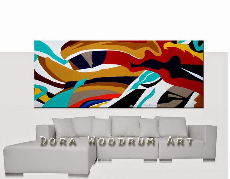 "Original Abstract Painting ""Fulfillment"" by Artist Dora Woodrum"